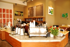 The coffee bar at Verve