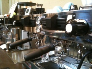 A La Marzocco Linea Manual Paddle at Visions Espresso's Coffee Enhancement Lounge.
