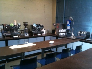 La Marzocco espresso machines at the Coffee Equipment Lounge